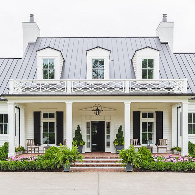 Southern Style Home. Black and White Home, Exterior, Dream Home.  Posted by Becki Owens - Blog