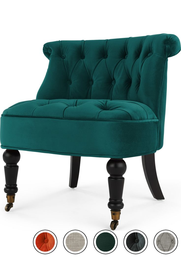 Best Made Seafoam Blue Velvet Armchair Accent Chairs Chair 400 x 300