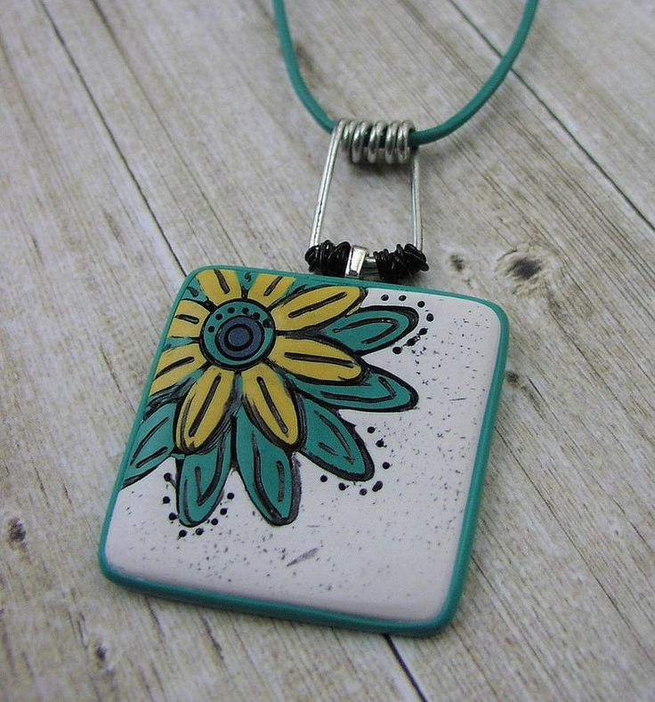 Polymer Clay Flower Pendant | by Studio53South