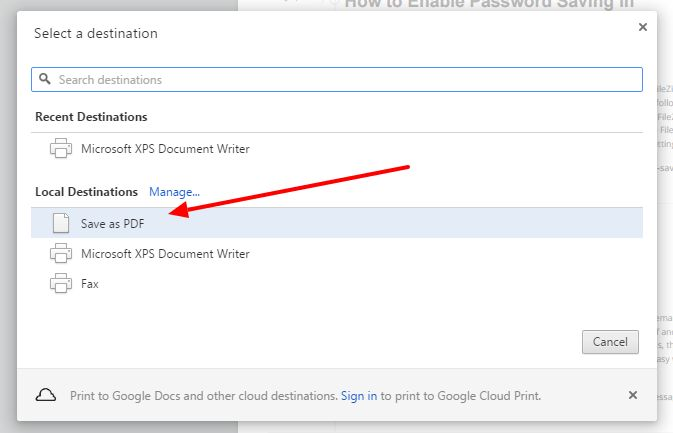 Quick and easy way to save web page as PDF file with Google Chrome