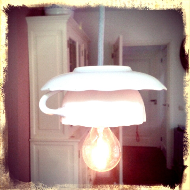 kop en schotel lampjes