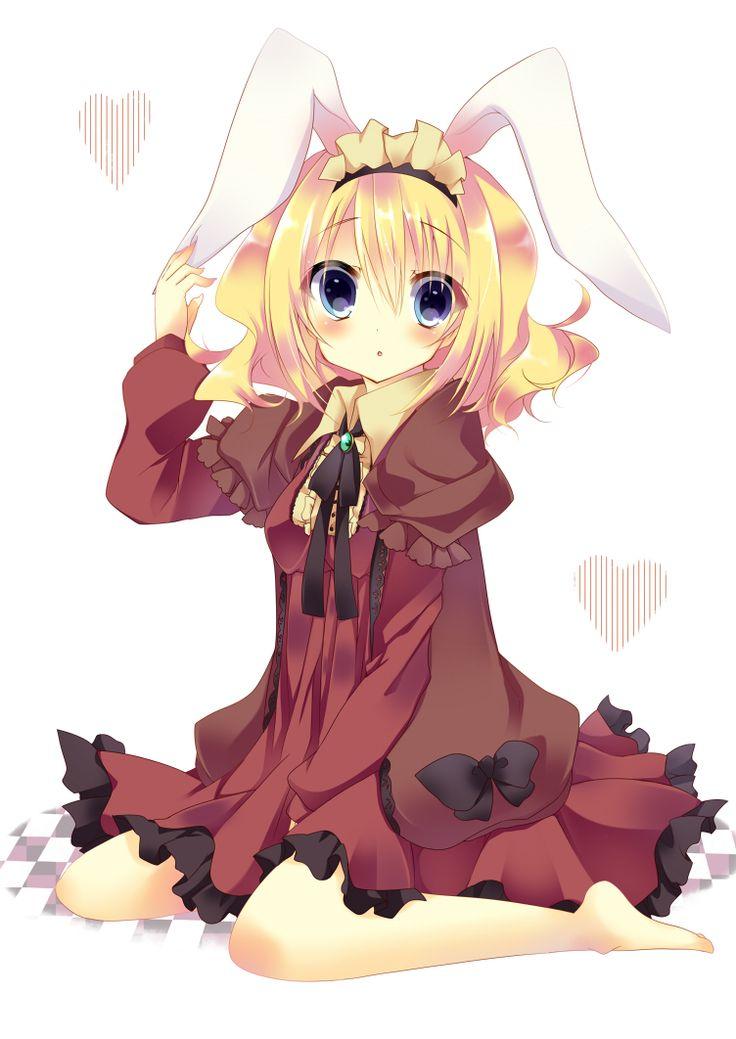 Cute Anime Rabbit cute anime girl...
