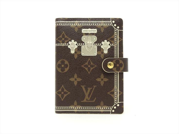 Louis Vuitton Authentic Monogram Trunk Agenda fonctionnel PM Diary cover Auth LV #LouisVuitton #Bifold