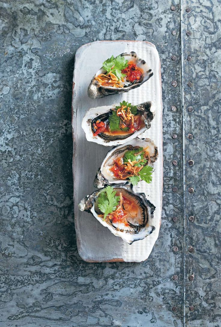 Oysters with red chilli nahm jim by Martin Boetz from New Thai Food | Cooked
