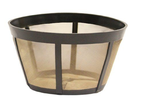 GoldToneTM Permanent Reusable Basket Coffee Filter, Fits BUNN®* Coffee Makers - http://teacoffeestore.com/goldtonetm-permanent-reusable-basket-coffee-filter-fits-bunn-coffee-makers/