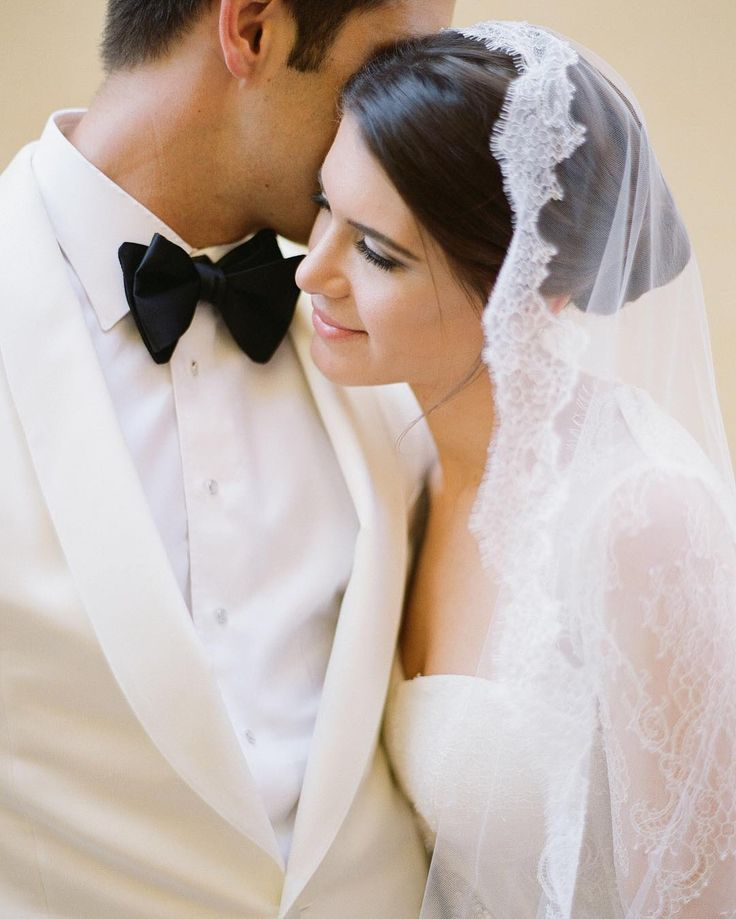pretty lace-lined veil