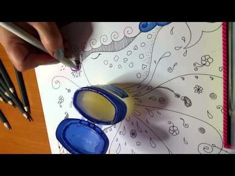 Vaseline and coloured pencils. - YouTube