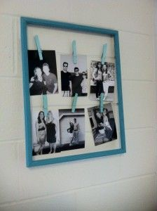 Do it yourself picture frame ideas simple diy wall art ideas washi diy clothes pin frame with do it yourself picture frame ideas solutioingenieria Gallery