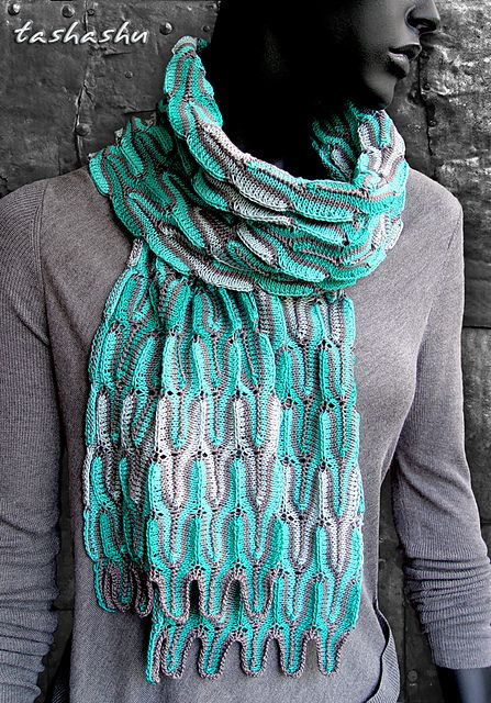 Ravelry: Knitted Scarf Waves pattern by Svetlana Gordon