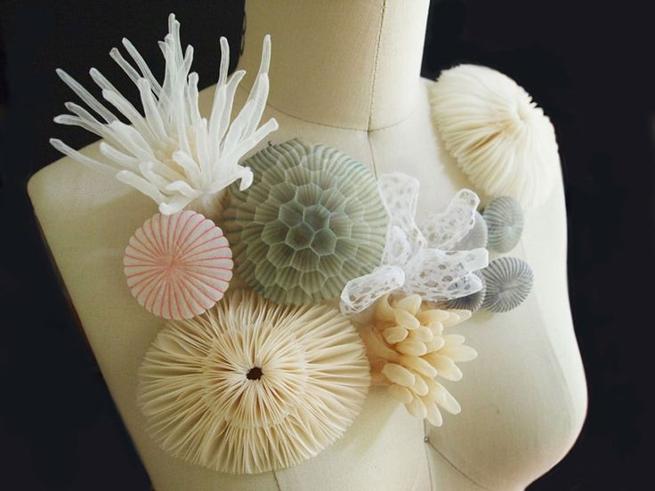 translucent fabric jewerly by Mariko Kusumoto