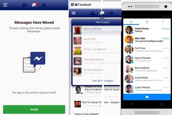 Facebook will soon force you to install messenger for mobile chat