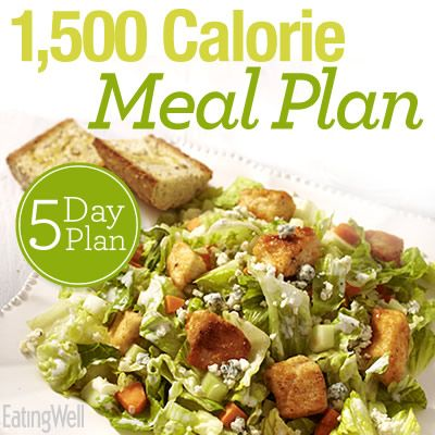 5-day 1,500-calorie meal plan with shopping list!