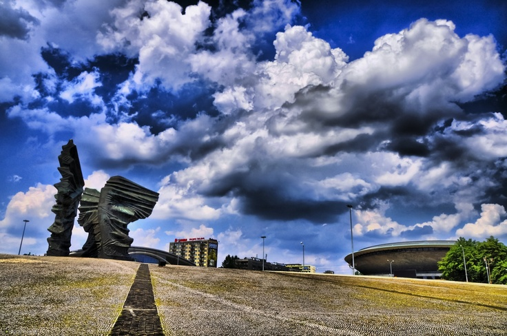 Pomnik Powstańców, Katowice The #Wings, #Katowice #sculpture