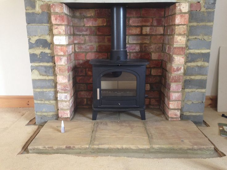 Building false chimney breast using reclaim bricks and for New construction wood burning fireplace