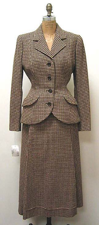 Suit  House of Balenciaga  (French, founded 1937)  Designer: Cristobal Balenciaga (Spanish, 1895–1972) Date: fall/winter 1949–50 Culture: French Medium: wool