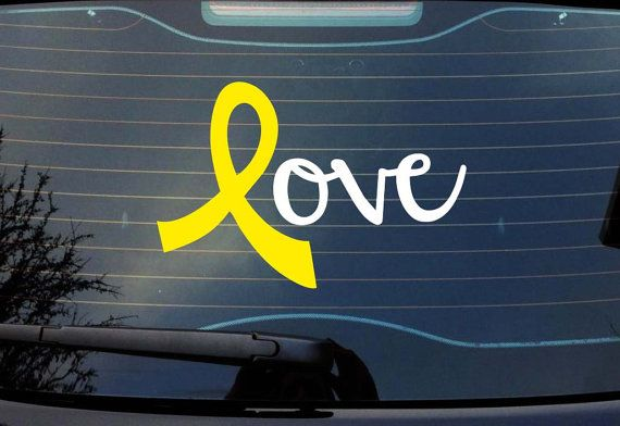 Want this for my car.... Yellow ribbon stands for spina bifida awareness AND honoring military members who are currently deployed two things I care about a lot.