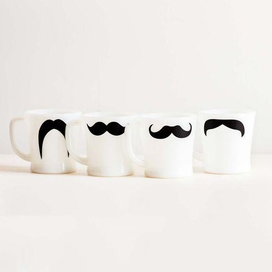 White Coffee Mugs Set