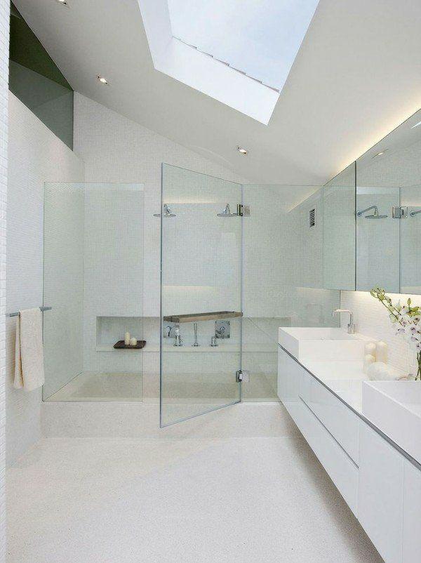 douche minimaliste verre sans cadre