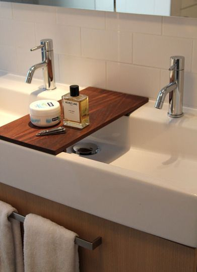 Before After A Modern Bathroom Update In The West Village Trough Sink