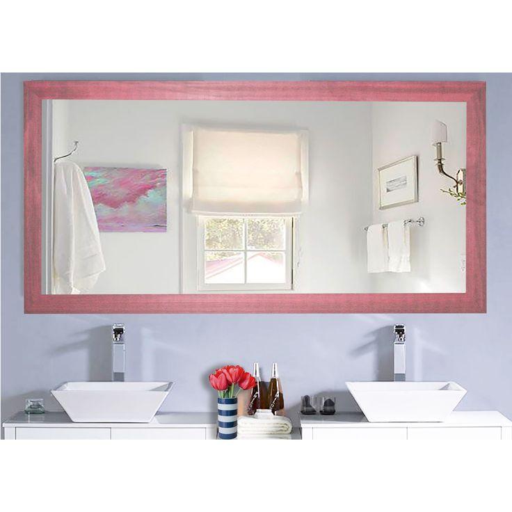 Rayne Mirrors U.S. Made Vintage Pink Framed Mirror (35 x 70)