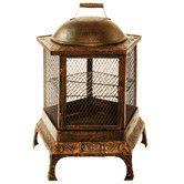 Pentagon Pagoda Fireplace