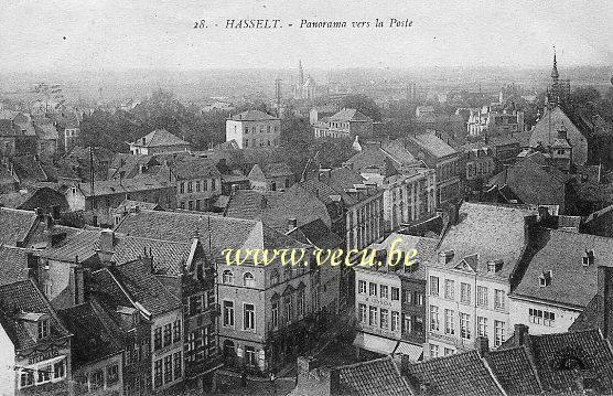 postkaart van HasseltPanorama vers la Poste