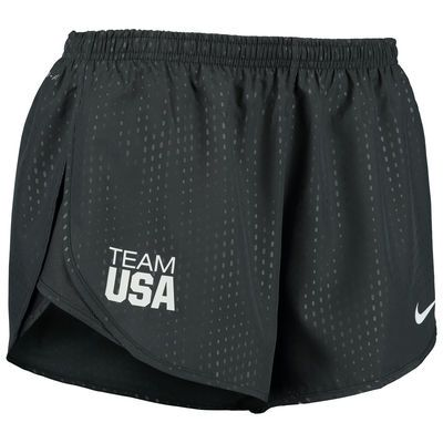 Women's Nike Anthracite Team USA Stadium Tempo Shorts - Medium