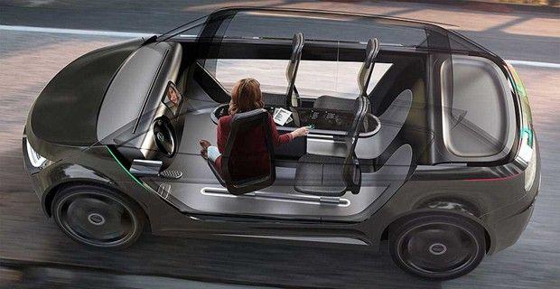 Empresa cria conceito de escritório móvel sem motorista (Foto: Divulgação / IDEO) http://glo.bo/1xWinY7