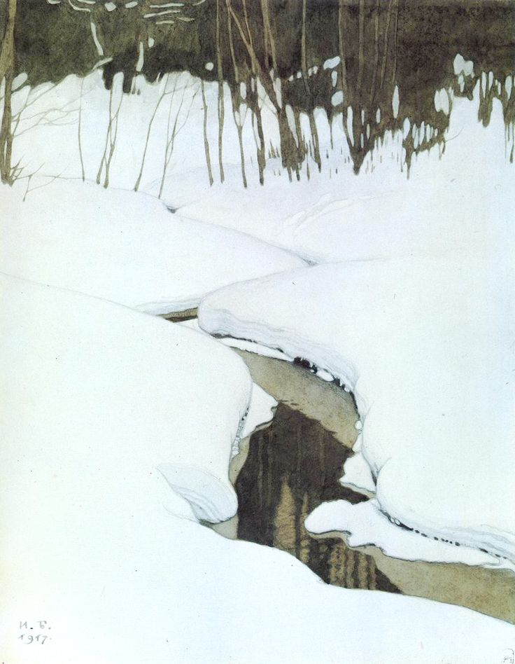 Ivan Yakovlevich Bilibin (1876-1942). Creek, 1917. Russian