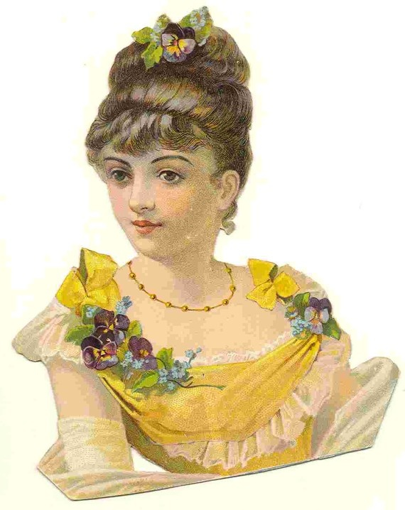 Victorian Die Cut of Lady