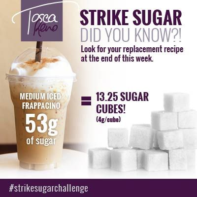There's HOW much sugar in that?! Watch for my #StrikeSugar version of an Iced Frap this week! #StrikeSugarChallenge  #icedfrap #coffeedrink #sugar #eatclean #cleaneating