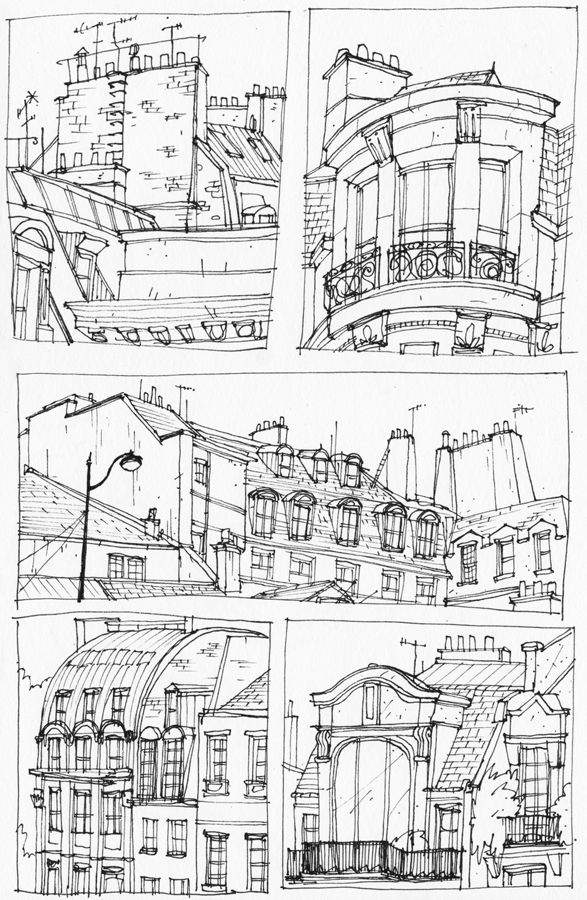 We went to Paris for a couple of days. These are some drawings of some of the buildings there.And, just a quick message to anybody who has an apartment in Paris; I hate you.