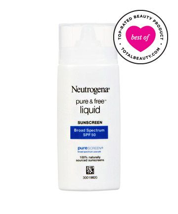 Best Sunscreen for Your Face No. 11: Neutrogena Pure & Free Liquid Daily Sunblock, $12.49