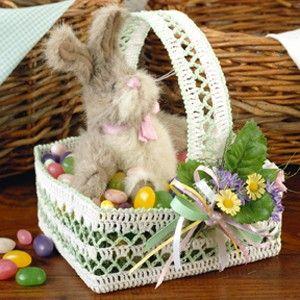 Leisure Arts - Lacy Easter Basket Thread Crochet Pattern ePattern, $2.99 (http://www.leisurearts.com/products/lacy-easter-basket-thread-crochet-pattern-digital-download.html): Crochet Baskets, Crochet Patterns Crochet, Crochet Easter, Patterns Crochet Thread, Baskets Crochet, Easter Crochet Patterns, Baskets Thread, Easter Baskets, Thread Crochet