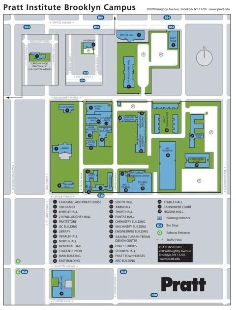 Pratt Institute Campus Map | schooling | Pinterest | Campus map