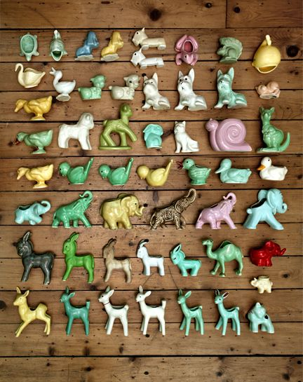 ..I thought my mother was so skilled when she made me ceramic animals as a very young child...i was so careful with them i lined them up on my dresser... I was so proud of her for MAKING them!!! It was exciting to see what she would bring home from her classes!! :)