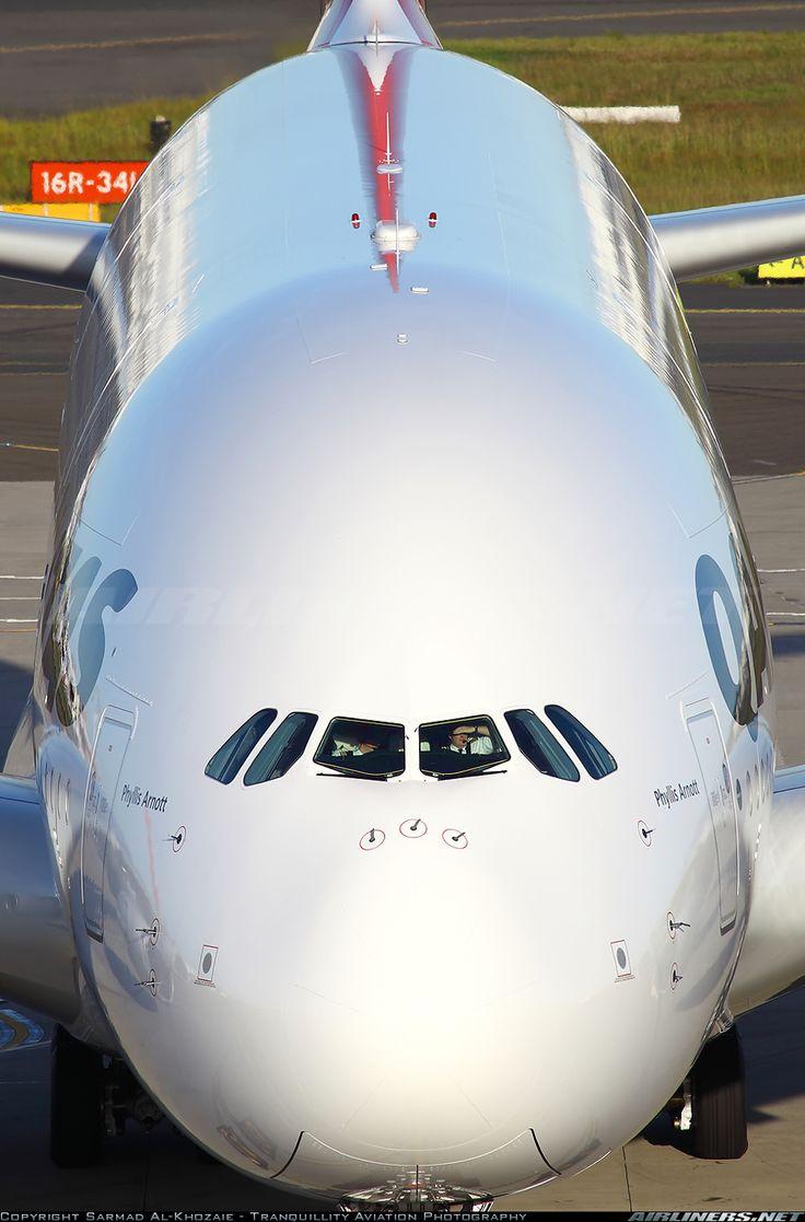 tumblr:  Qantas Airbus A380-842 VH-OQL (cn 074) requesting push back!  (photo Sarmad Al Khozaie, Tranquility Aviation Photography)