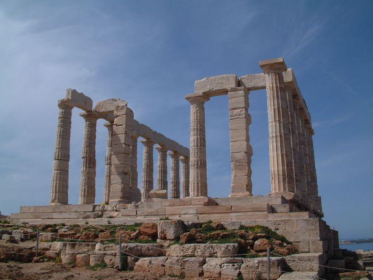 Temple of Poseidon, Sounio, Greece...