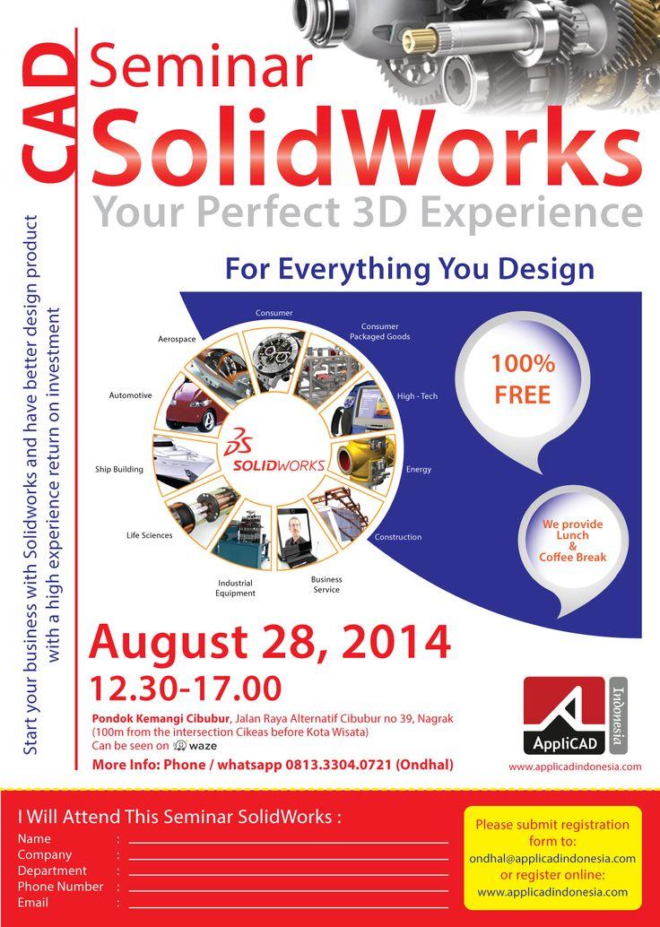 Seminar CAD Solidworks | AppliCAD Indonesia.