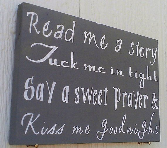 Read me a story Sign Baby Room Decor Nursery by themodpurplecow, $28.00