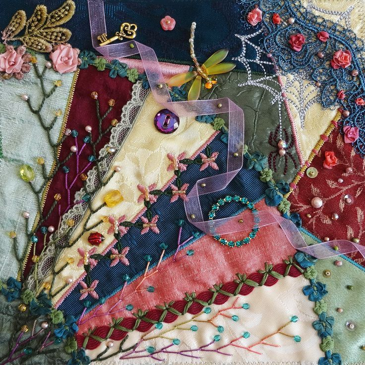 34 best images about embroidery ideas on Pinterest | Raised garden ... : crazy quilt projects - Adamdwight.com
