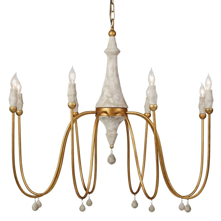 The Gabby Lighting Clay chandelier delivers mid-century appeal to modern  living rooms, bedrooms, and entryways. This large-scale light features a  turned ... - 367 Best Lighting Images On Pinterest Dining Room, Farmhouse