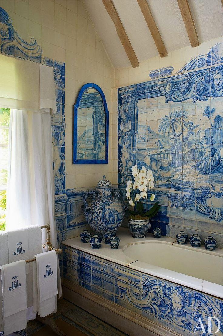 Pi di 25 fantastiche idee su piastrelle per bagno blu su - Piastrelle bagno blu ...