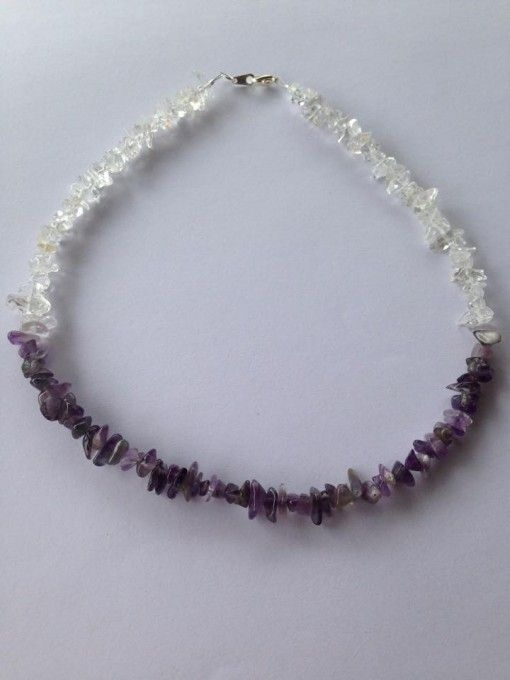 Amethyst and Clear Quartz necklace