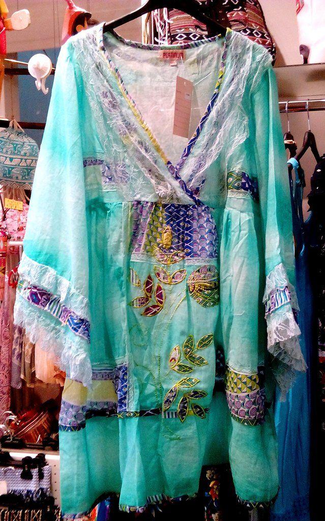 Ινδικό καφτάνι-πουκαμίσα σε patchwork σχέδιο