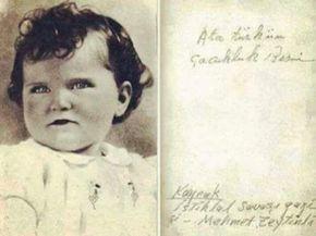 Atatürk'ün görmüş olduğunuz ilk ve tek çocukluk fotoğrafı.