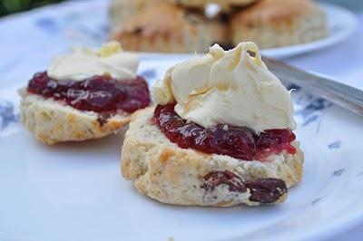 Proper Cornish cream teas with the cream on TOP :-)