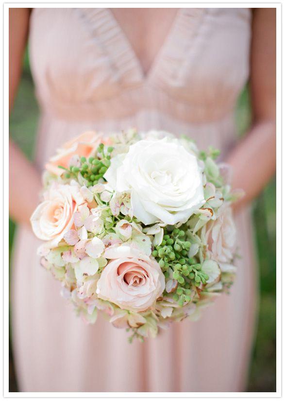 blush rose & hydrangea bouquet