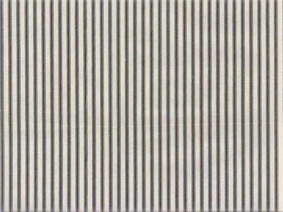 Ticking Stripe Fabric Upholstery Fabric Drapery Fabric Black