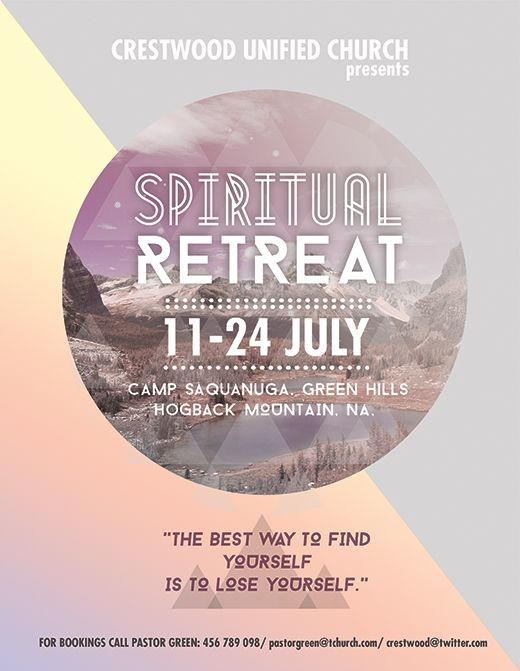 Free flyer templates for your church or spiritual event promotion. http://blog.nextdayflyers.com/creative-flyers-templates-religious-spiritual-event-promotion/